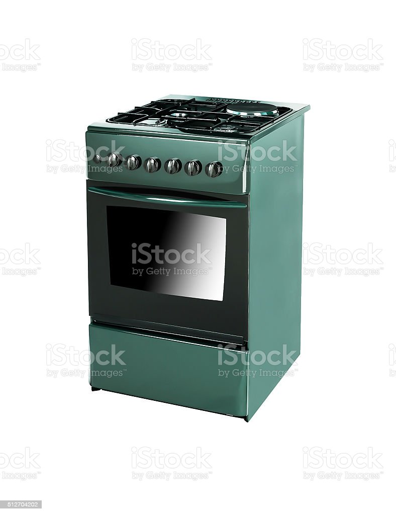 Oven isolated on white stock photo