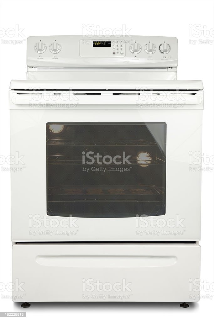 Oven Isolated royalty-free stock photo