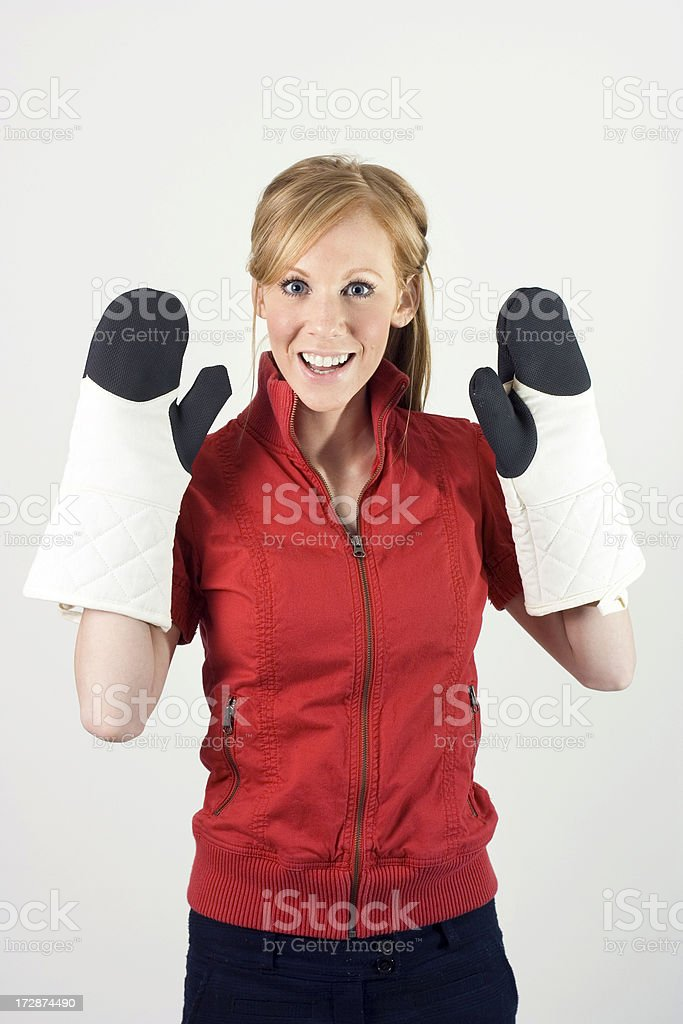 Oven Mitts royalty-free stock photo