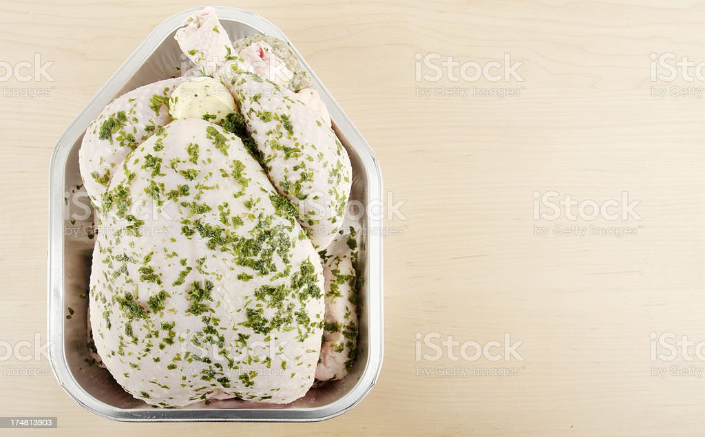 Oven Ready Chicken In Foil Tray royalty-free stock photo