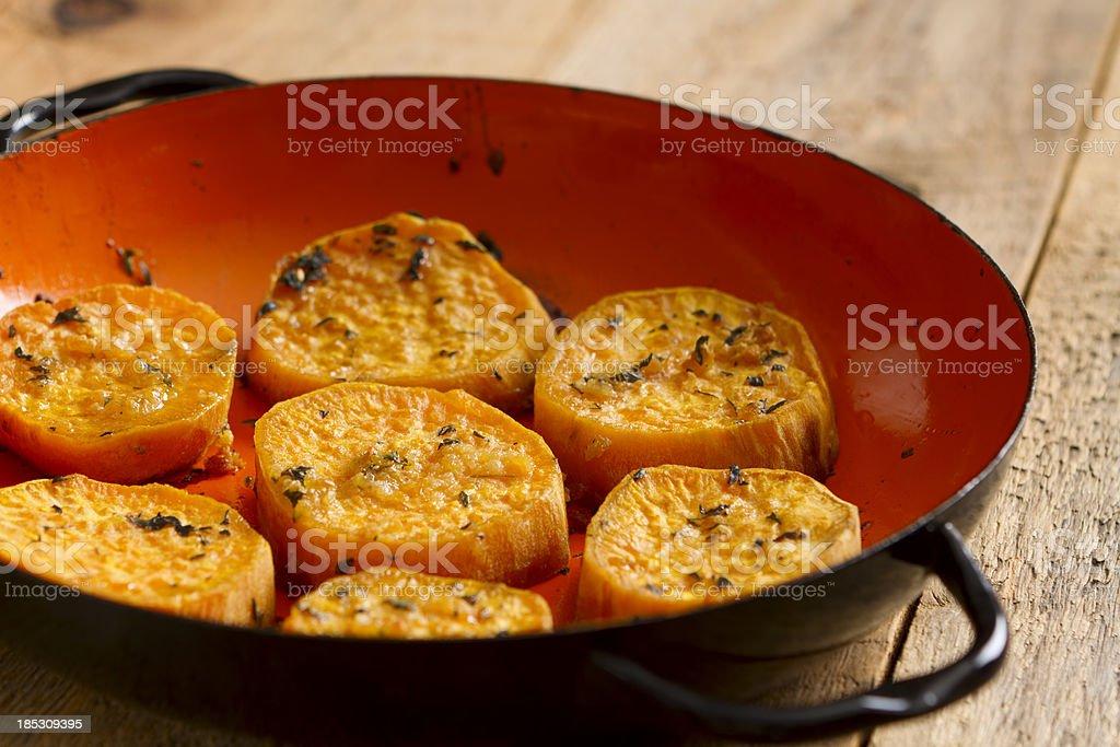 Oven Roasted Sweet Potatoes stock photo