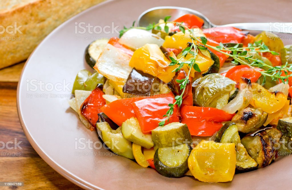 Oven Roasted Vegetables royalty-free stock photo