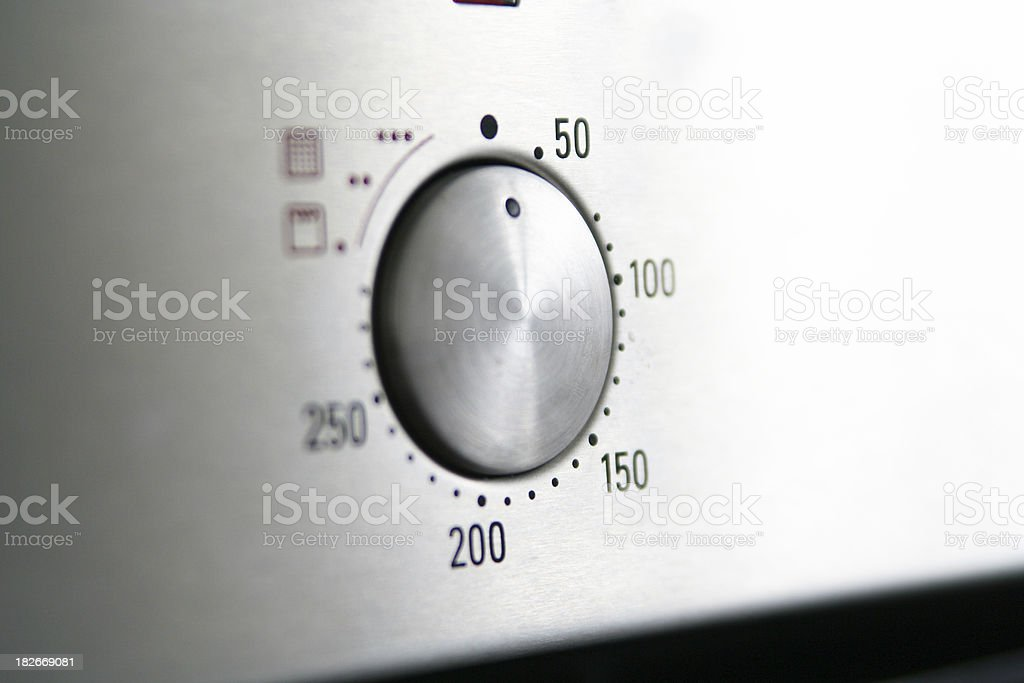 Oven temperature royalty-free stock photo