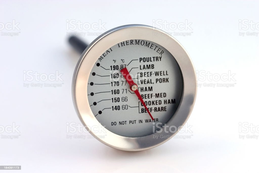 Oven thermometer stock photo