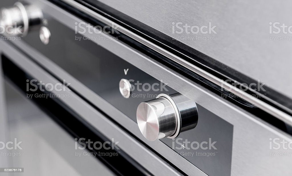 Oven user interface and door detail stock photo