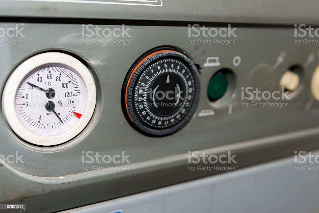 Oven with temperature meter stock photo