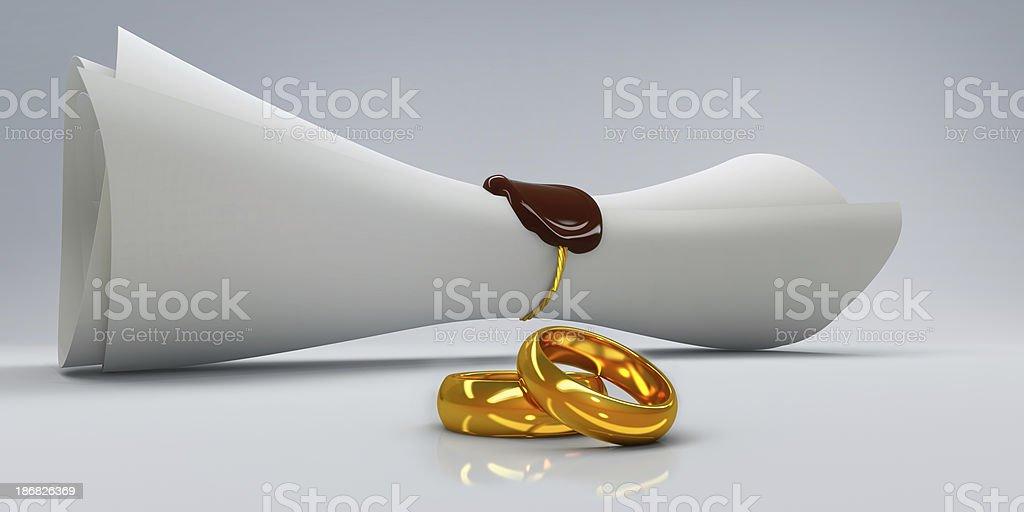 Сovenant of marriage stock photo