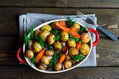 Oven-roasted potato