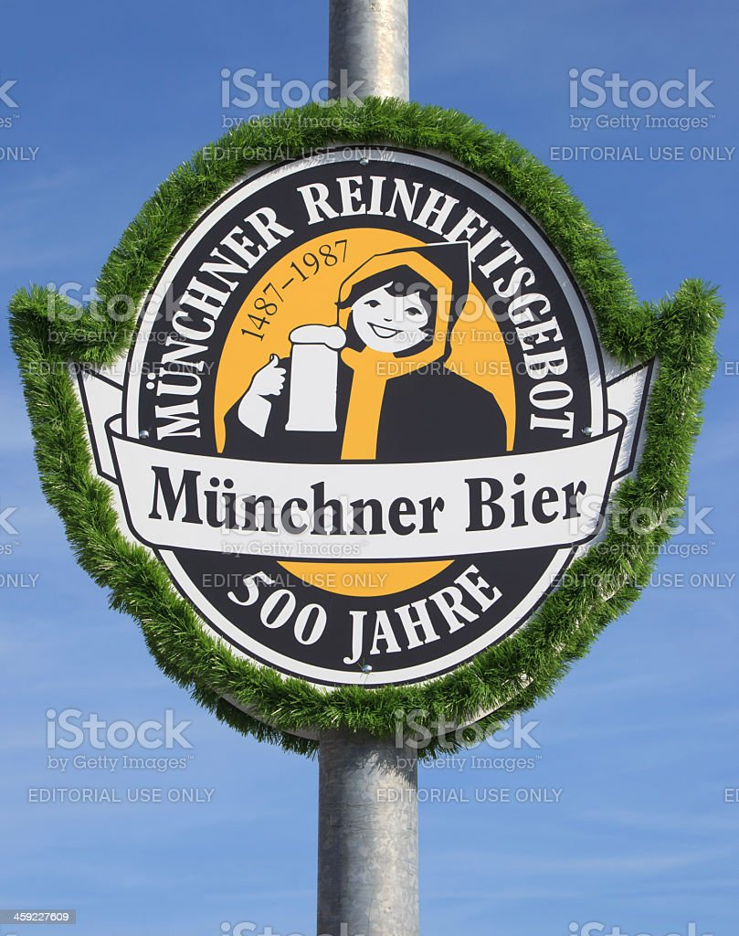 Over 500 years of Munich Purity Law for Beer royalty-free stock photo