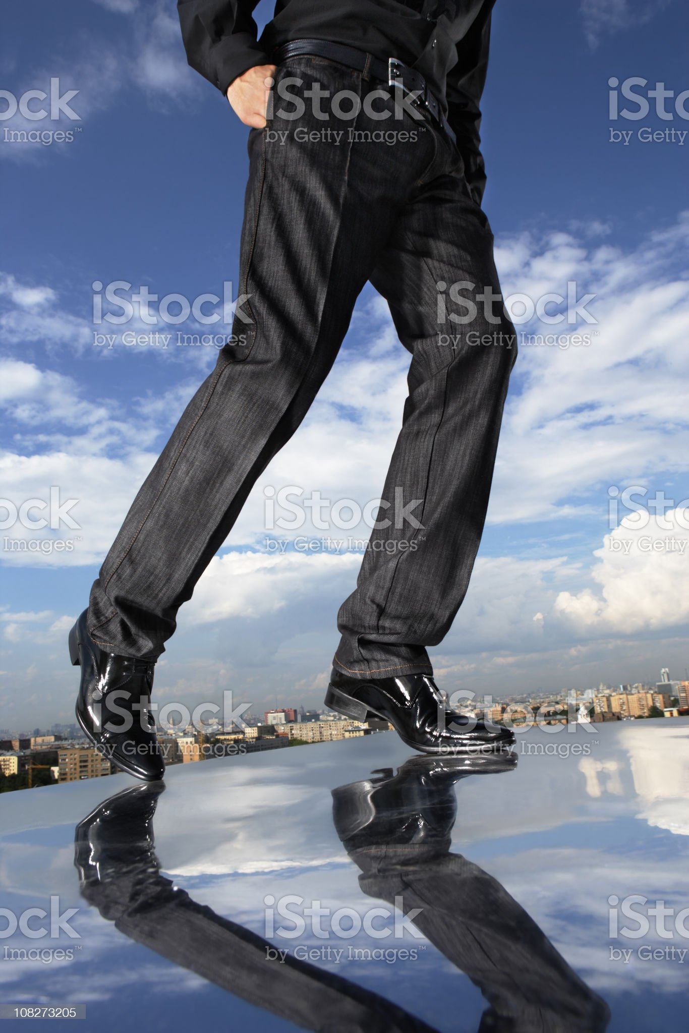 Over a city royalty-free stock photo
