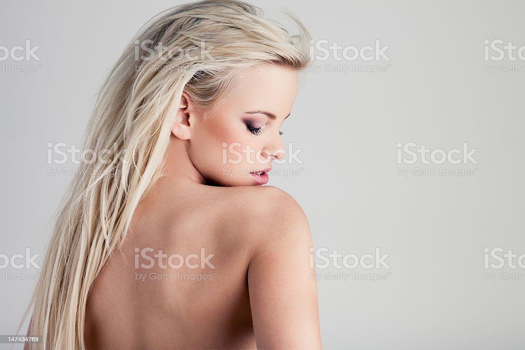Over a shoulder royalty-free stock photo