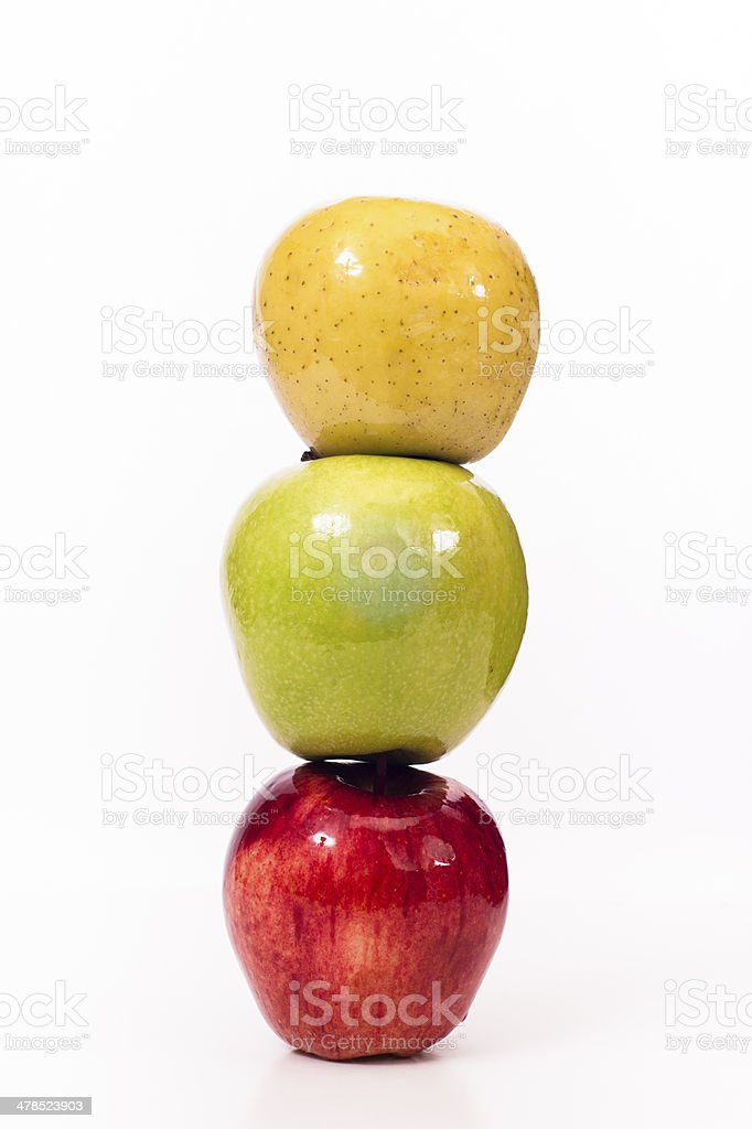 over and over three apples stock photo