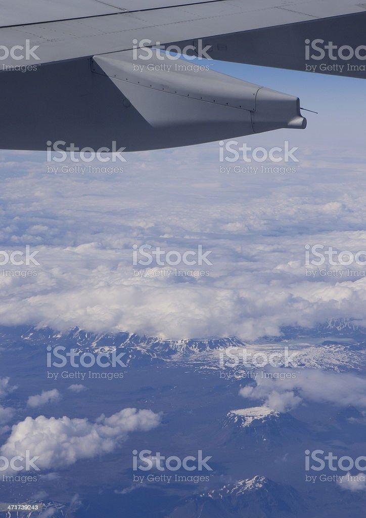 Over Iceland stock photo