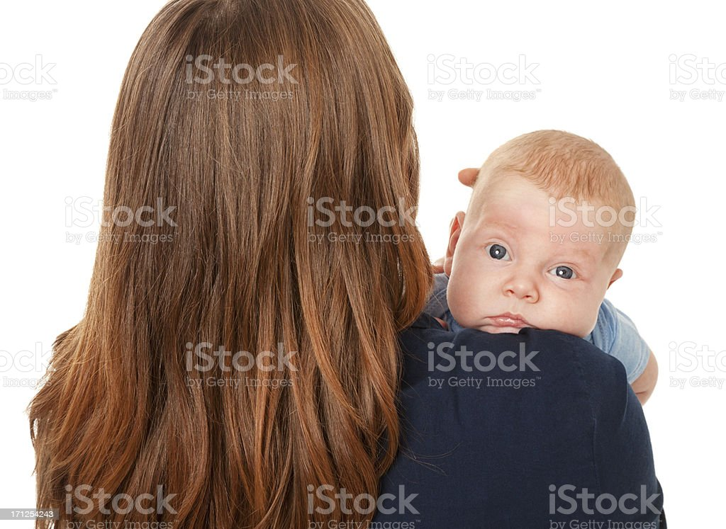 Over Mommy's Shoulder stock photo