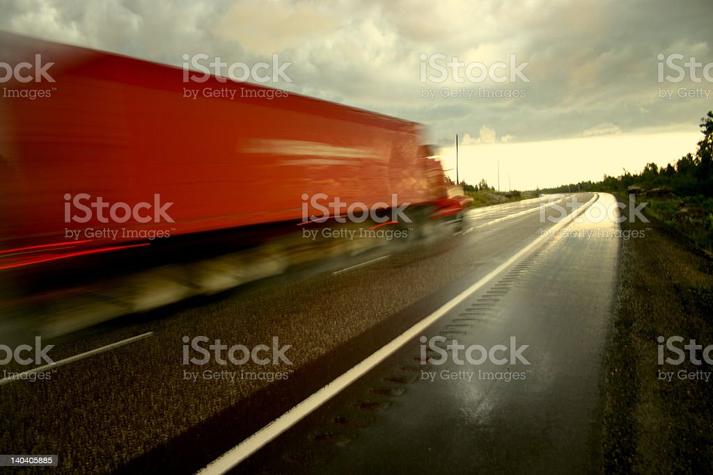 Over night freight stock photo