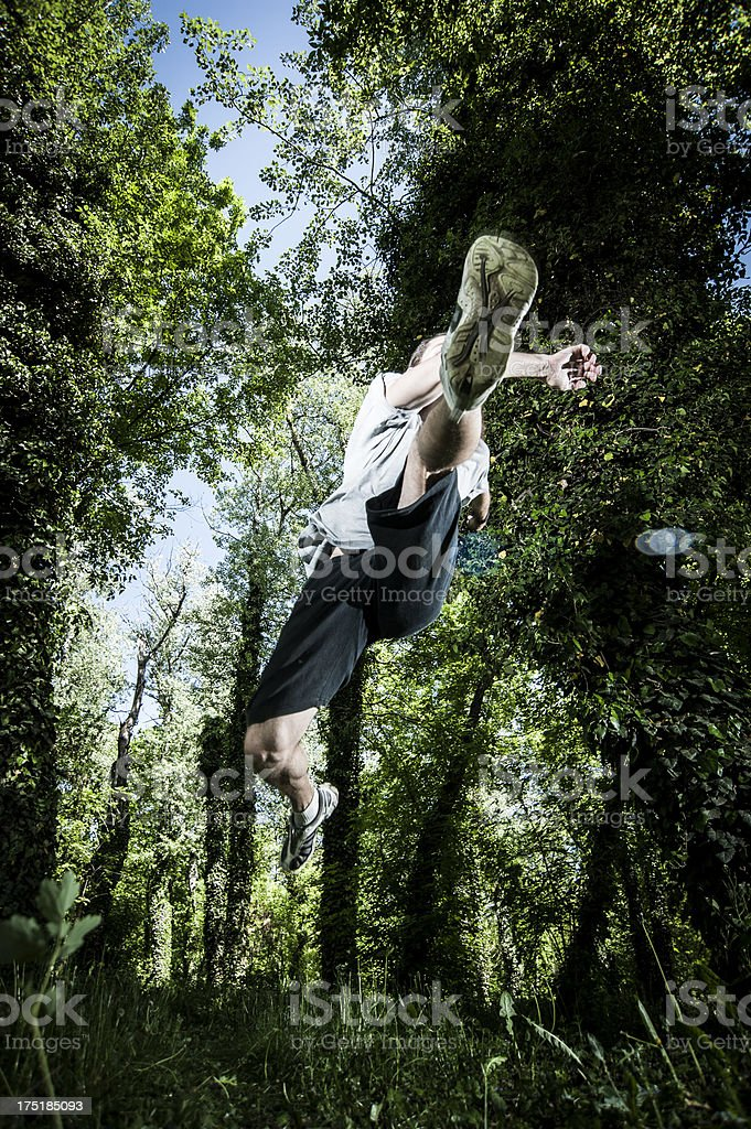 Over obstacle royalty-free stock photo