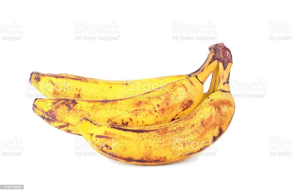 Over ripe banana isolated on white stock photo