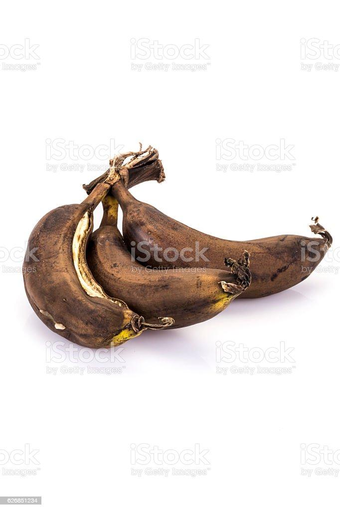 over ripe (rotten) bananas stock photo