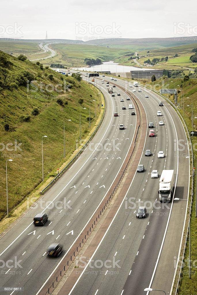 M62 over Saddleworth Moor stock photo