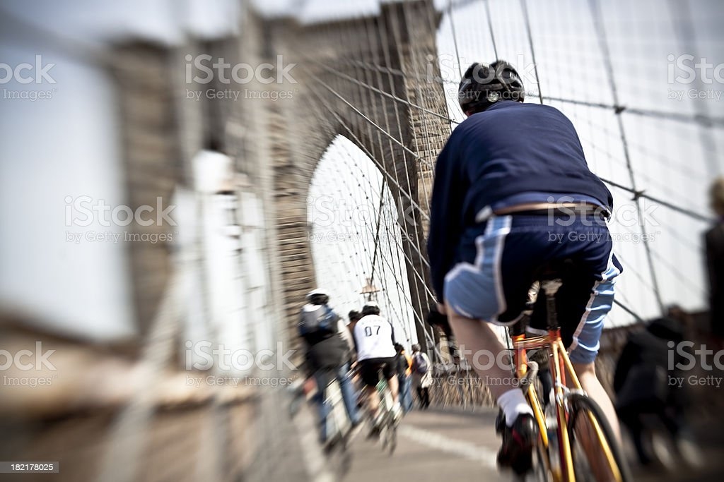 Over the Brooklyn Bridge royalty-free stock photo