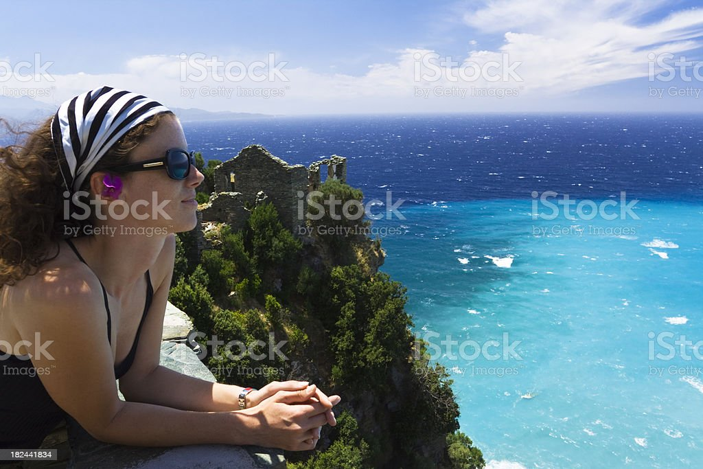 over the cliff royalty-free stock photo