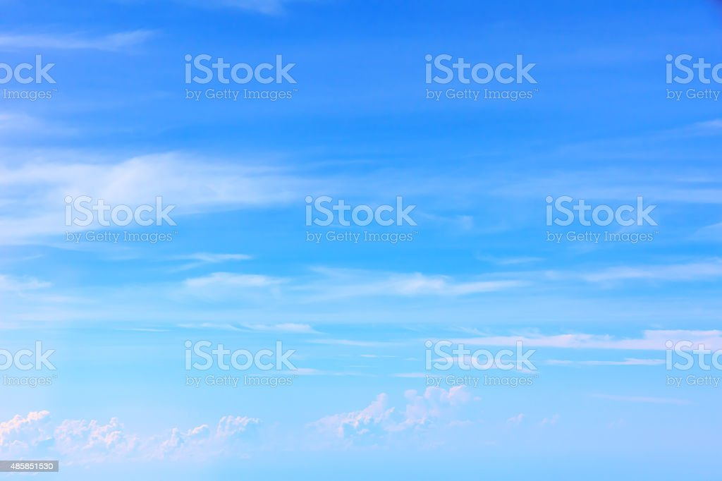 Over the Clouds. Fantastic background with clouds stock photo