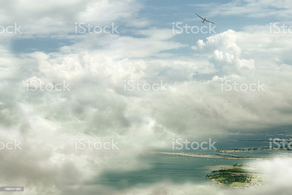 Over the clouds stock photo