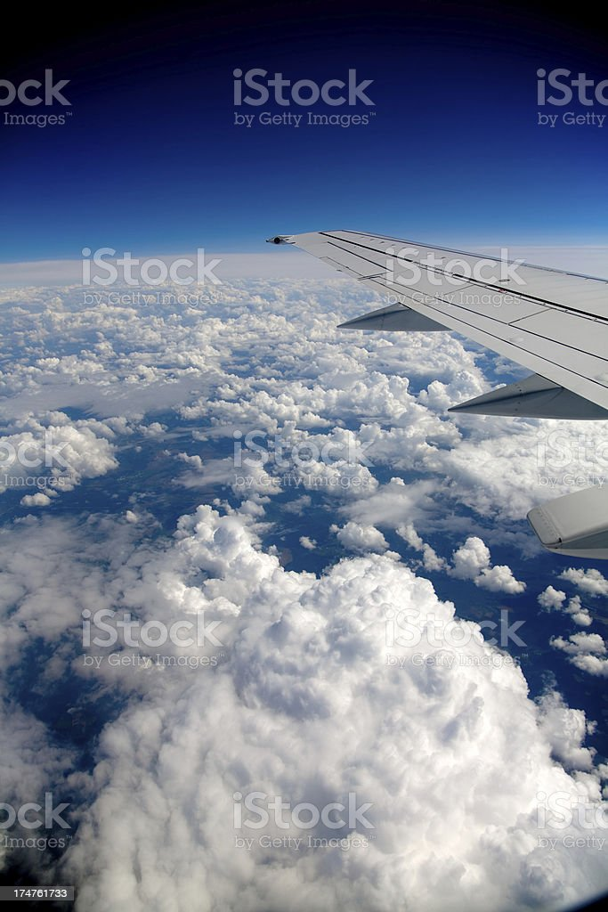 Over the clouds royalty-free stock photo