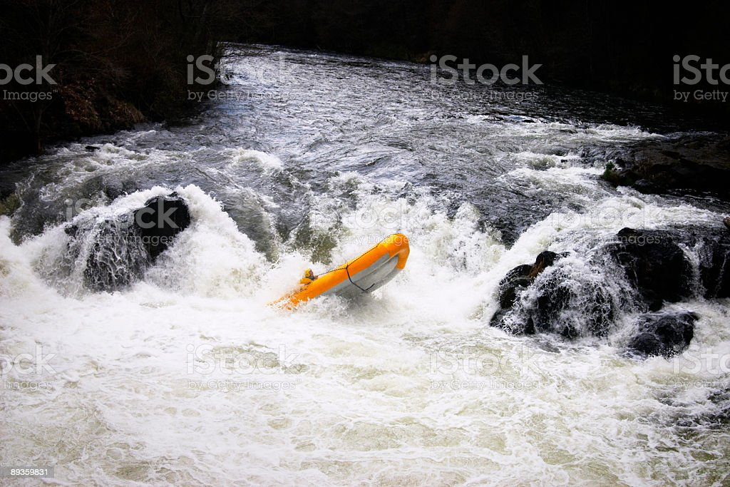 Over the Falls royalty-free stock photo