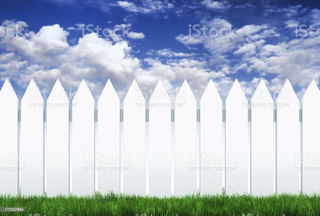 Over the Fence (XL) royalty-free stock photo