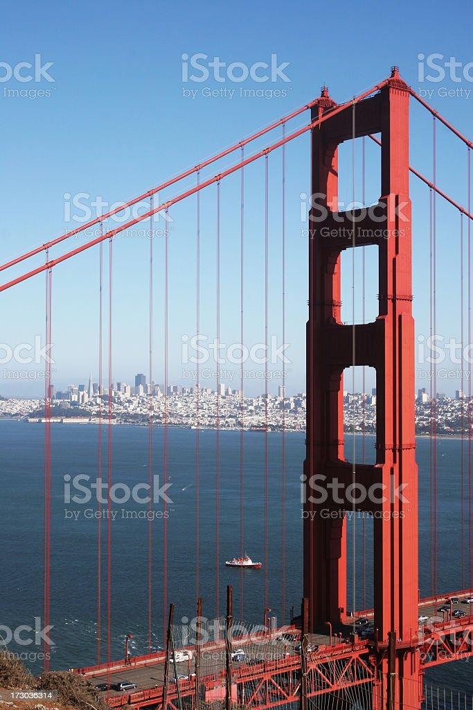 Over the Golden Gate Bridge royalty-free stock photo