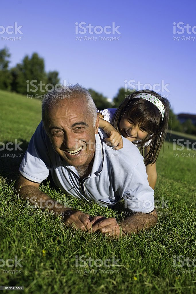 Over the green royalty-free stock photo