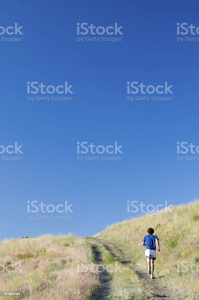 Over the Hill royalty-free stock photo