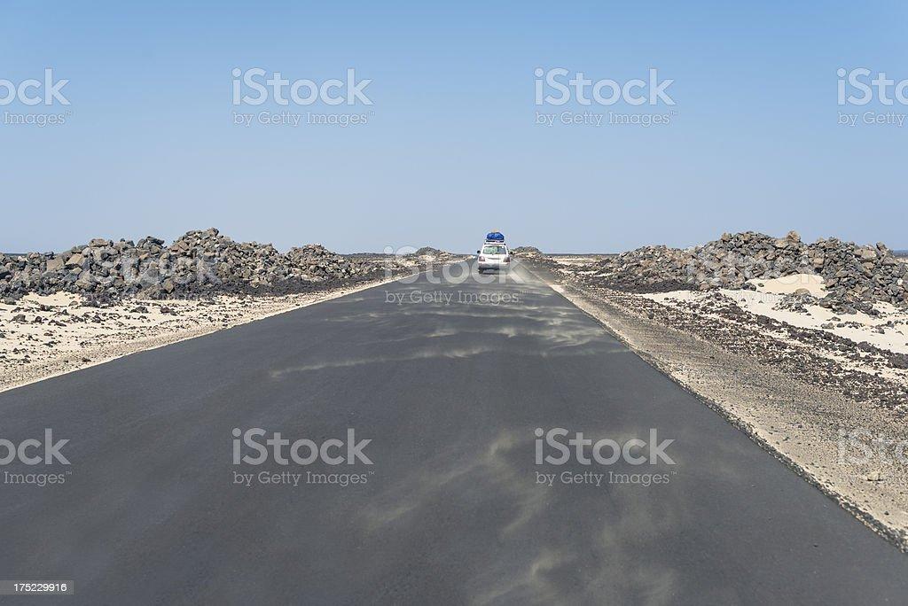 Over the lava field stock photo