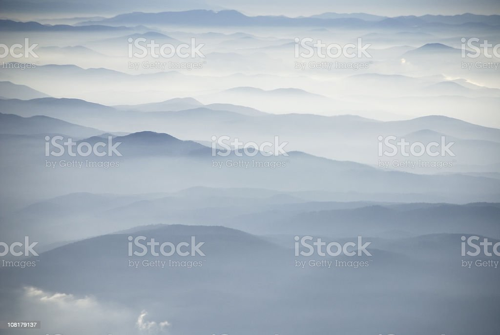 Over The Mountains royalty-free stock photo