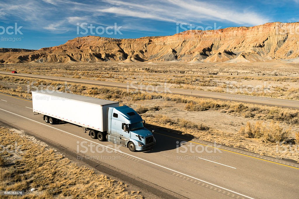 Over The Road Long Haul 18 Wheeler Big Rig Truck stock photo