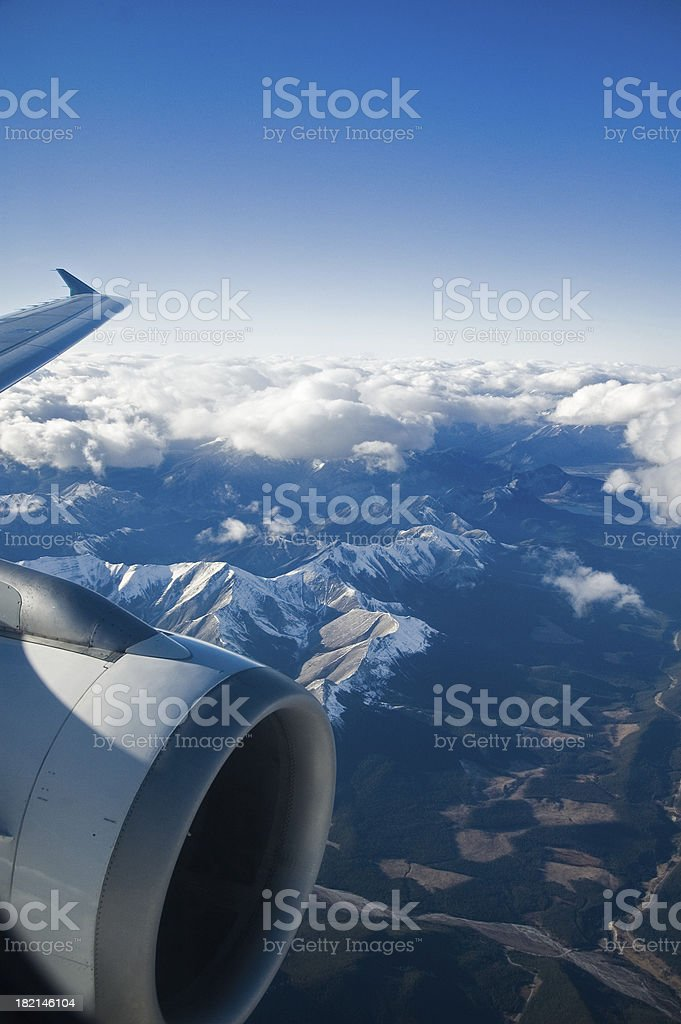 Over The Rockies royalty-free stock photo