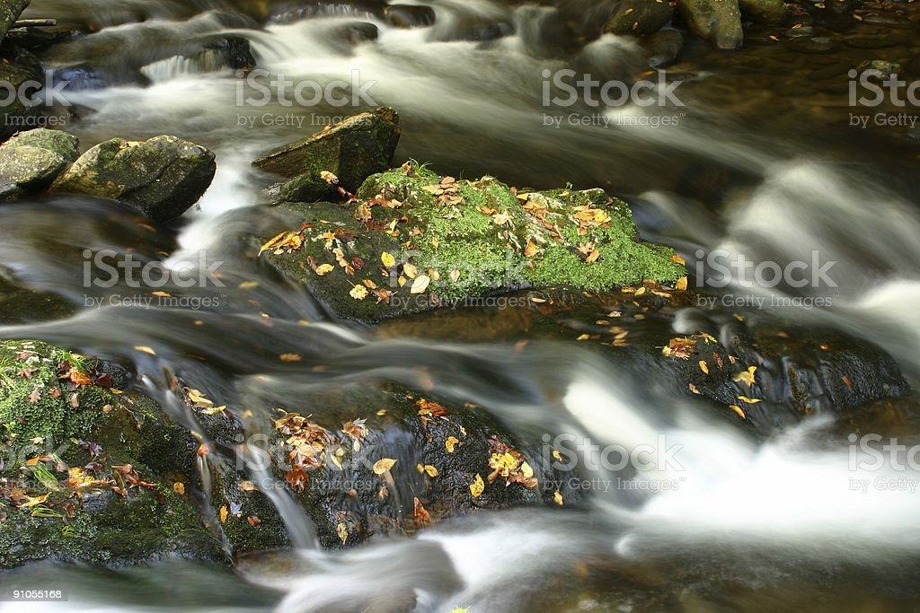 Over the Rocks royalty-free stock photo