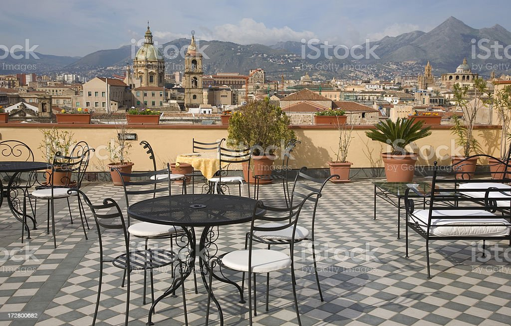 Over the rooftops of Palermo stock photo