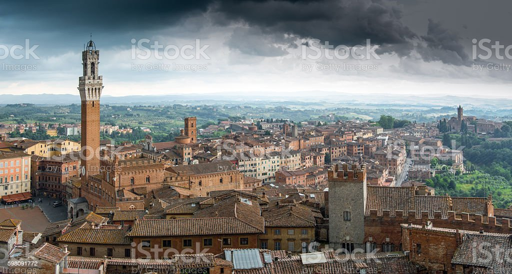 Over the rooftops of Siena royalty-free stock photo