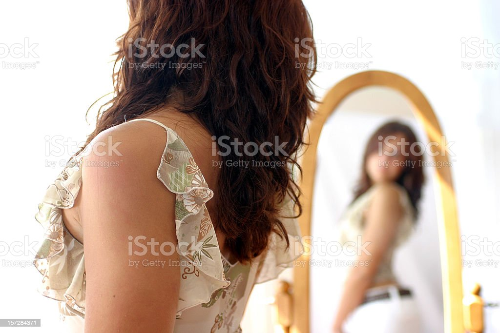 Over the shoulder. royalty-free stock photo