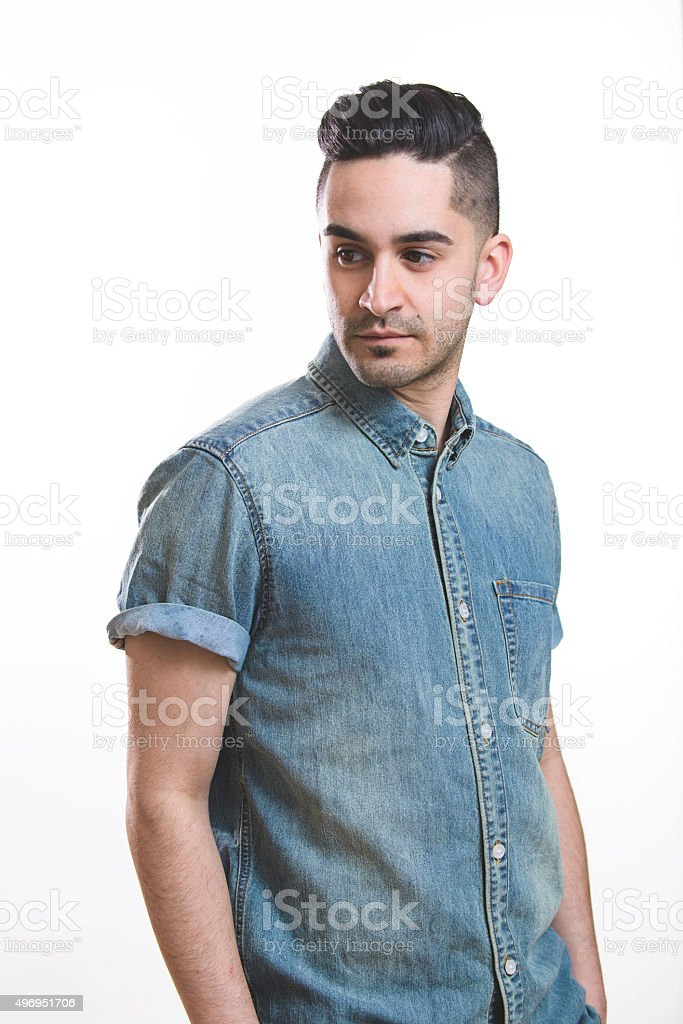 Over the Shoulder stock photo