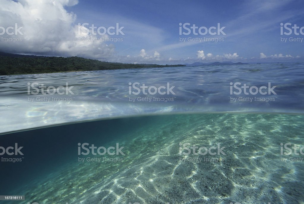 Over Under Island View royalty-free stock photo