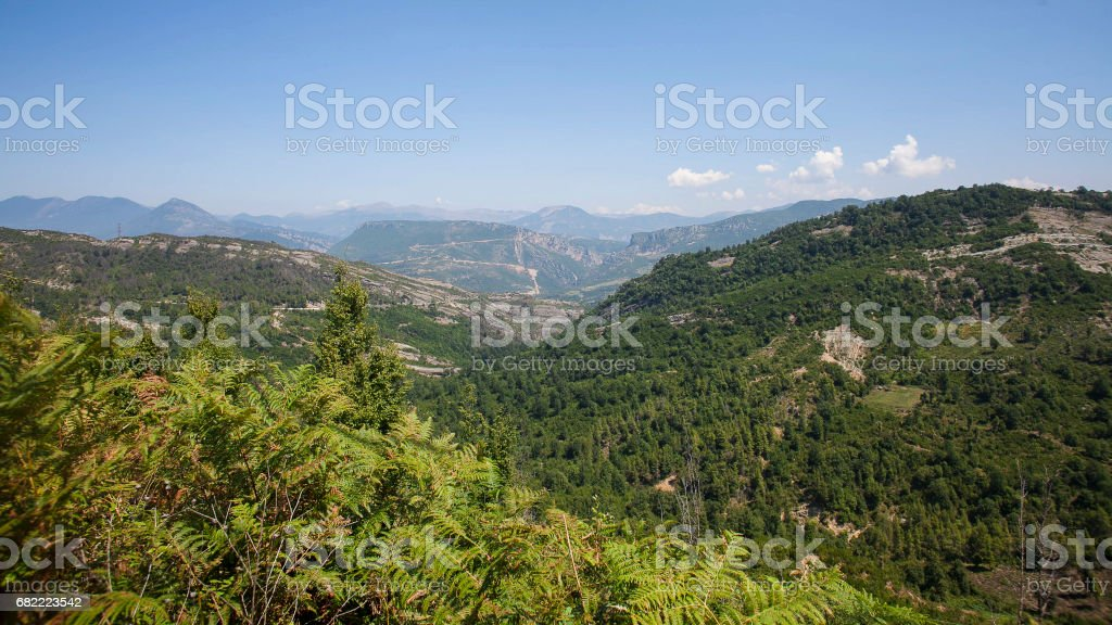 Over valleys and mountains in Macedonia stock photo