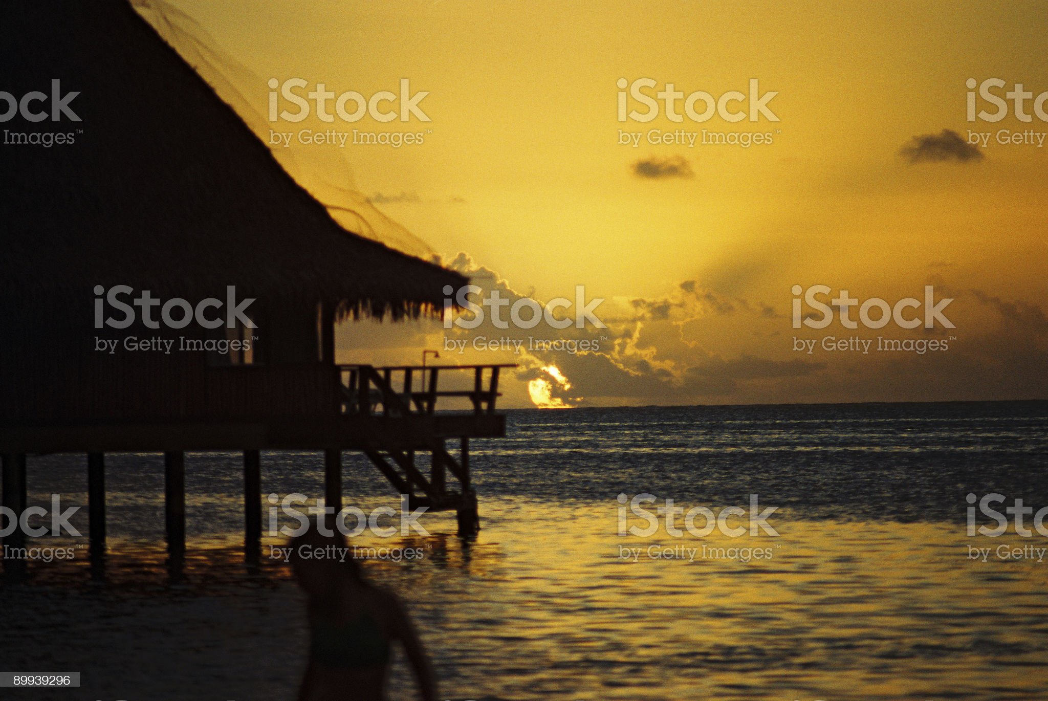 Over water bungalow royalty-free stock photo