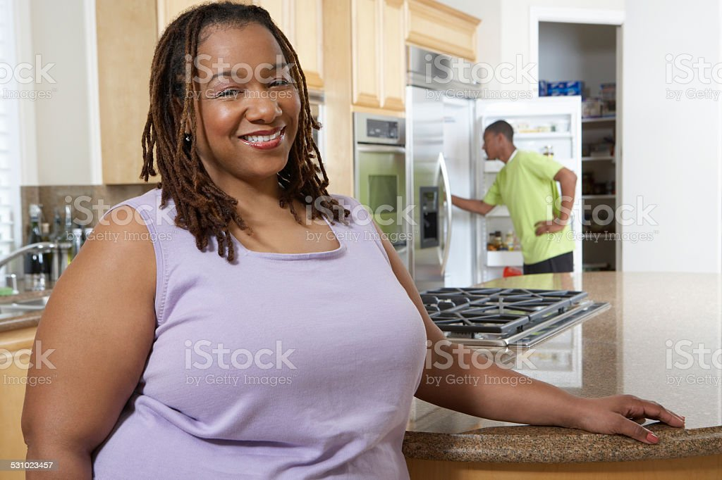 Over weight family stock photo