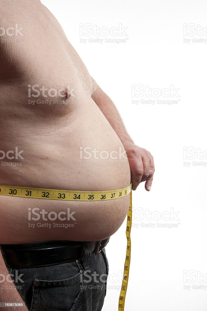 Over weight measuring tape royalty-free stock photo