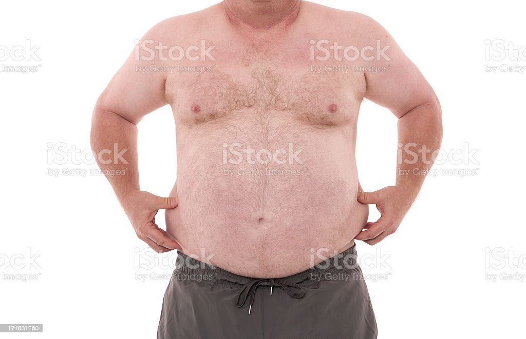 Over weight person. royalty-free stock photo