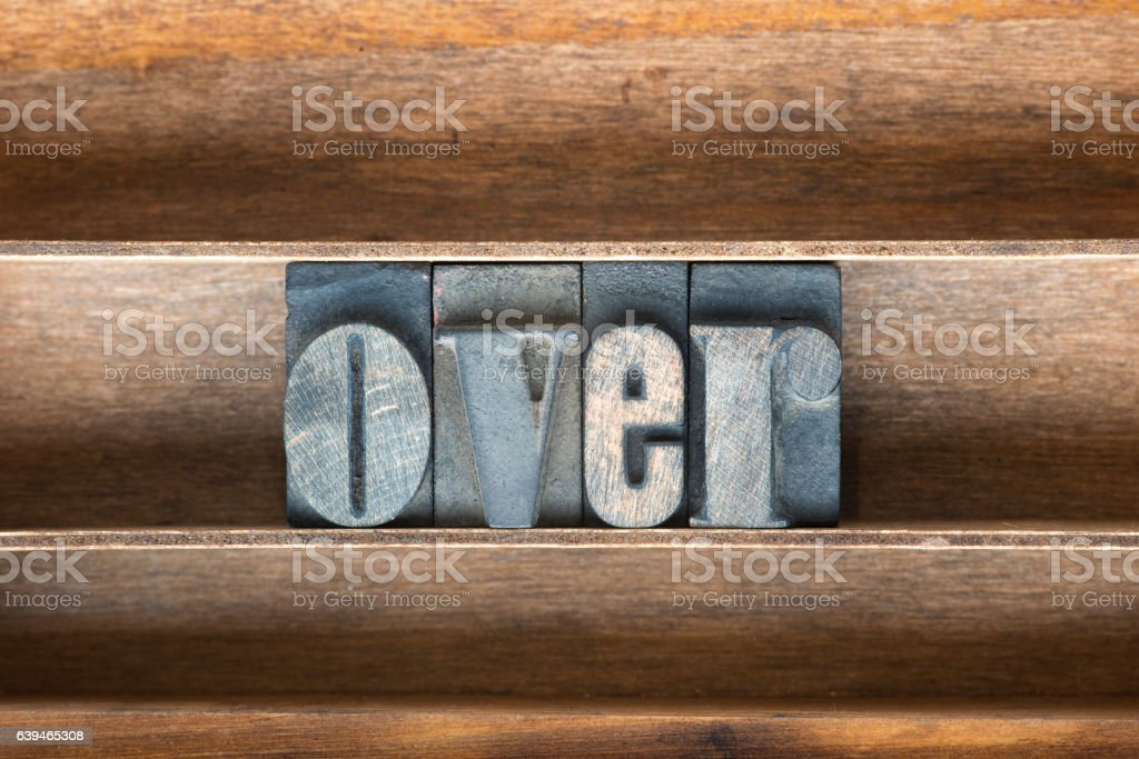over wooden tray stock photo