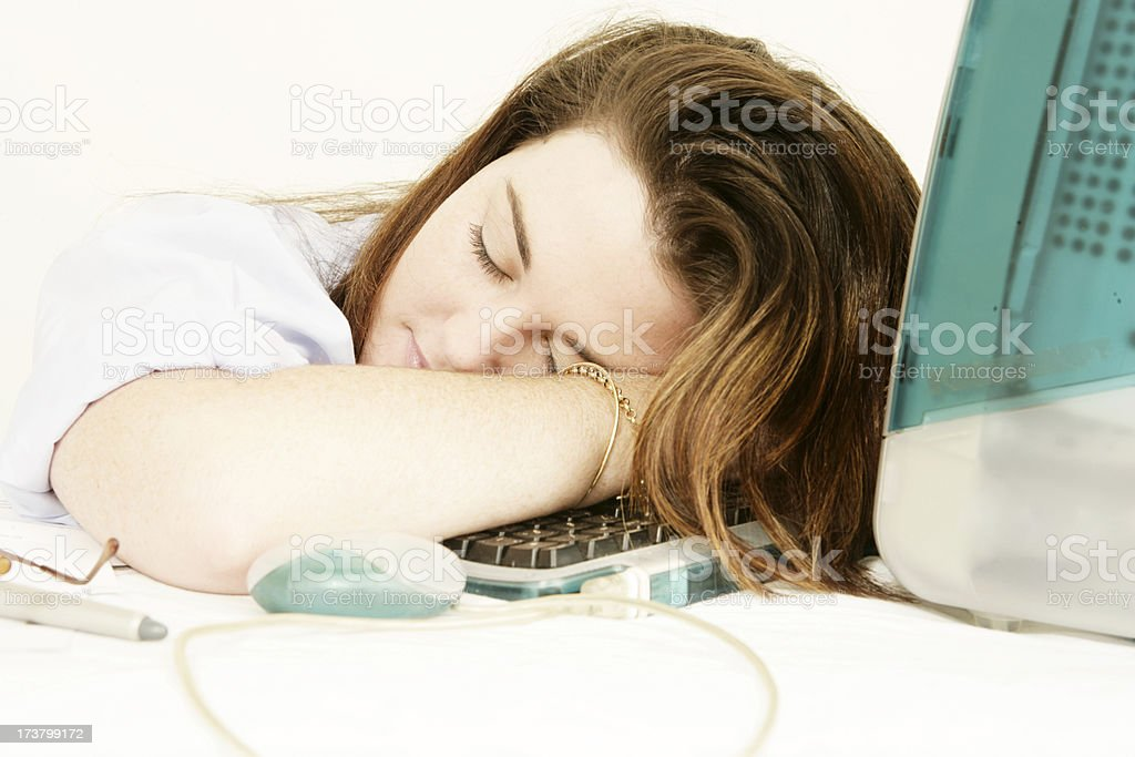 Over Worked royalty-free stock photo